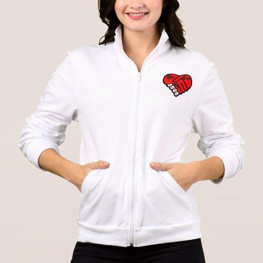 Um coração do amor um jaquetas estampadas