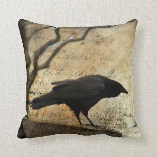 Um corvo almofada