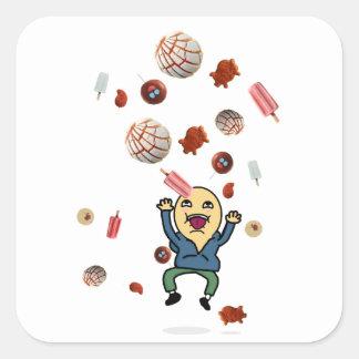 Um desejo: Conchas, dulces, etiquetas dos paletas