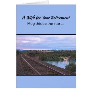 Um desejo para sua aposentadoria… cartão comemorativo