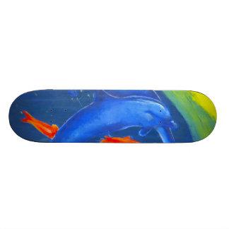Um design aquático colorido do skate