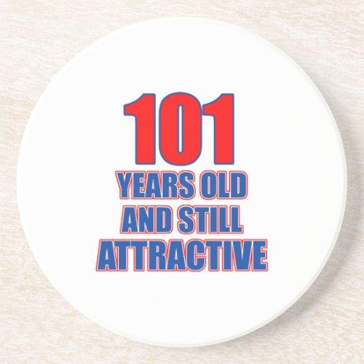 um design de 101 aniversários porta copo