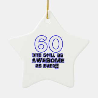 um design de 60 aniversários ornamento de cerâmica estrela