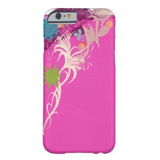 Um design floral Sassy cor-de-rosa Capa Barely There Para iPhone 6