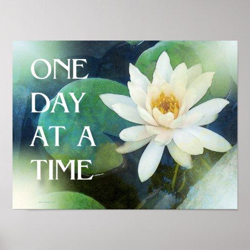 Um dia de cada vez Lotus um Impressão