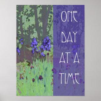 Um dia de cada vez torna iridescente e árvores posters