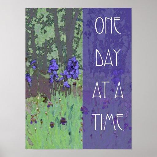 Um dia de cada vez torna iridescente e árvores posteres
