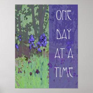 Um dia de cada vez torna iridescente e árvores pôsteres