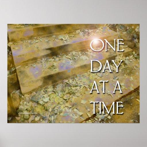 Um dia de etapas de cada vez e poster das folhas
