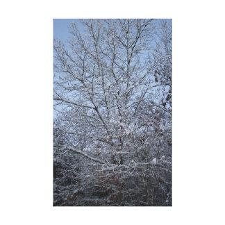 Um dia de inverno impressão em tela