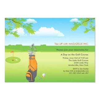 Um dia do convite do golfe