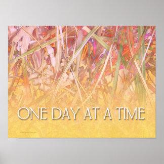 Um dia em um impressão do poster do tempo