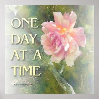 Um dia em um poster do rosa do rosa do tempo