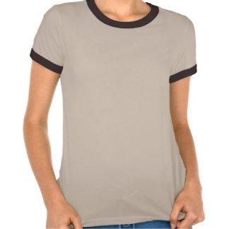Um dia em um t-shirt retro da flor do marrom do te
