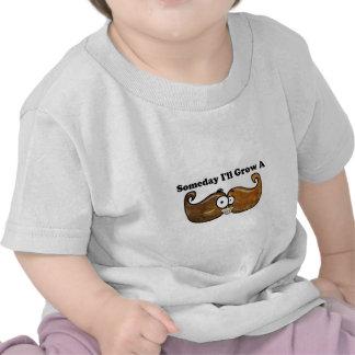 Um dia eu crescerei um bigode t-shirts