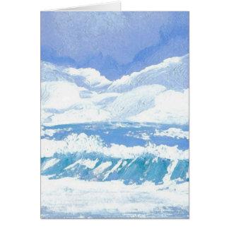 Um dia produtos da arte no mar - oceano de cartão comemorativo