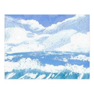 Um dia produtos da arte no mar - oceano de cartões postais