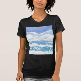 Um dia produtos da arte no mar - oceano de Cricket T-shirts