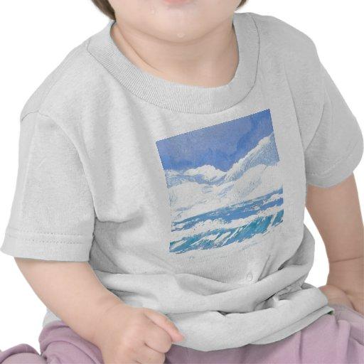 Um dia produtos da arte no mar - oceano de Cricket T-shirt