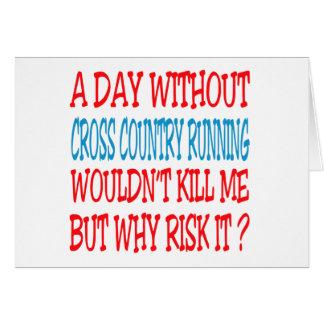 Um dia sem corredor do país transversal não cartao