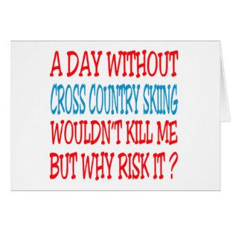 Um dia sem esqui do país transversal não mataria cartoes