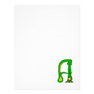 Um dragão panfletos coloridos