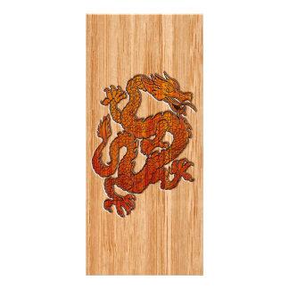 Um dragão no bambu oriental 10.16 x 22.86cm panfleto