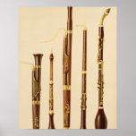 Um dulcian, um oboe, um fagote, um caccia de Dinam Impressão