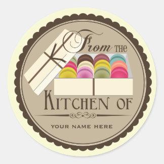 """Um dúzia franceses Macarons """"da cozinha de """" Adesivo"""