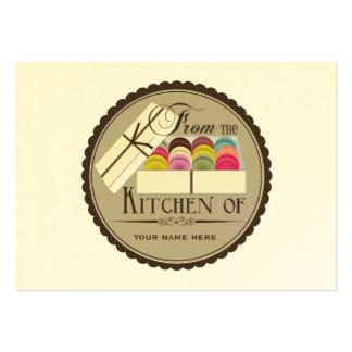 Um dúzia grupos de Macarons do francês de 100 cart Modelos Cartao De Visita