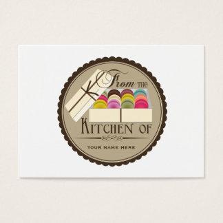 Um dúzia grupos de Macarons do francês de 100 Cartão De Visitas