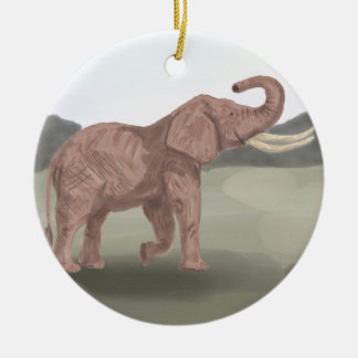 Um elefante do savana ornamento de cerâmica