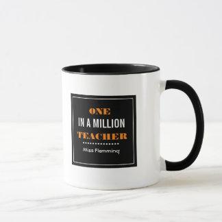 Um em milhão professores. Canecas do presente do