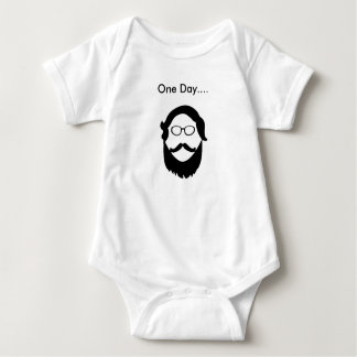 Um equipamento do bebê da barba do dia body para bebê
