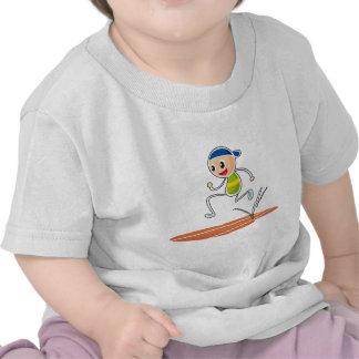 Um esboço de um corredor do menino tshirt