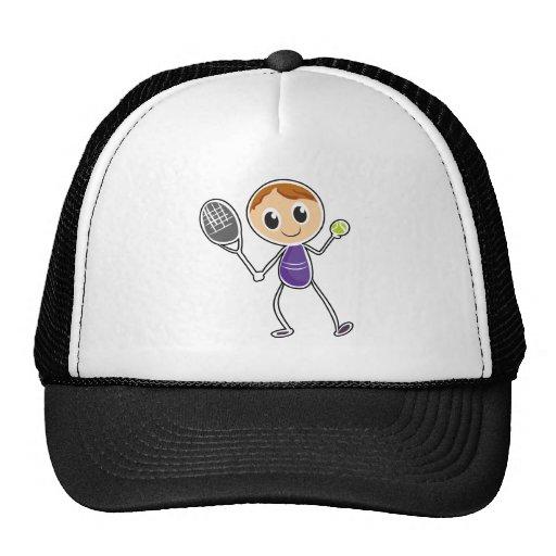 Um esboço de um menino que joga o tênis bones
