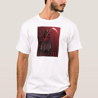 Um esqueleto com um scythe o Dia das Bruxas feliz Camiseta