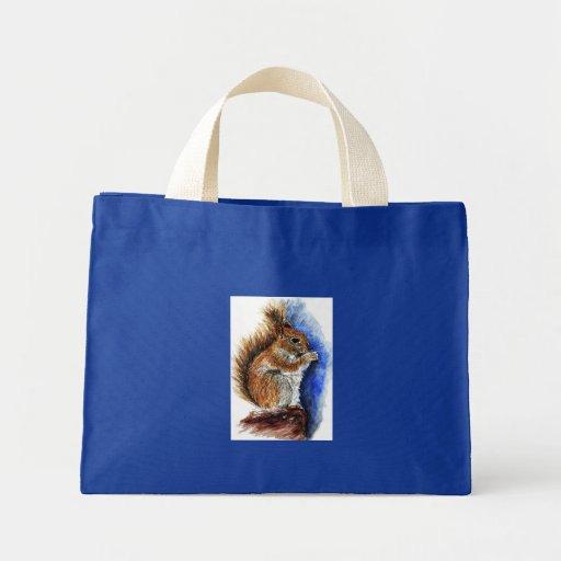 Um esquilo de Douglas, lápis da aguarela Bolsas Para Compras