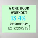Um exercício de 1 hora é 4% de seu poster do dia