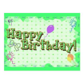Um feliz aniversario de néon cartão postal
