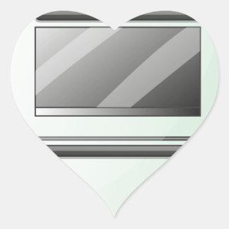 Um fogão de gás adesivo coração