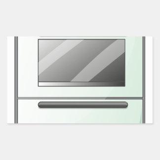 Um fogão de gás adesivo retangular