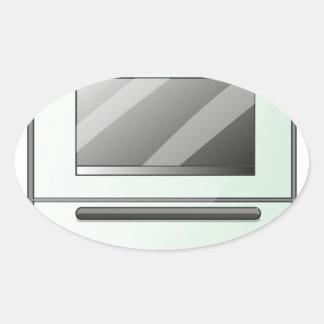 Um fogão de gás adesivo oval