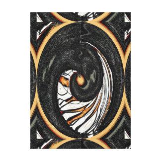 Um furo na parede - uma fatia de laranja impressão em canvas