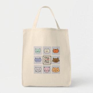 Um gato curto de louco bolsa tote