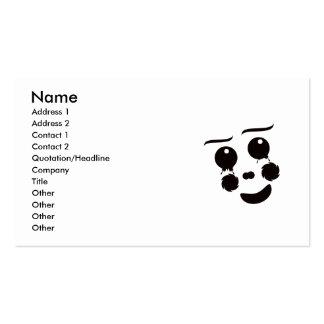 Um gráfico lunático do design da cara do palhaço cartão de visita