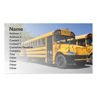 um grande auto escolar amarelo cartão de visita