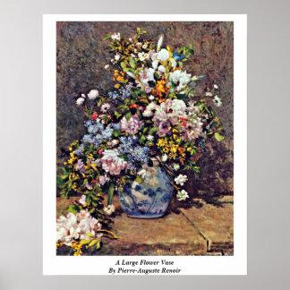 Um grande vaso de flor por Pierre-Auguste Renoir Pôster