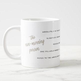 Um guia à caneca da pessoa de Não-Manhã