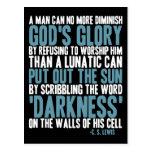Um homem pode não mais diminuir a glória do deus cartoes postais